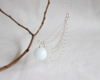pale blue jade opera length necklace . europa