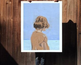 Coast .  extra large wall art . giclee print