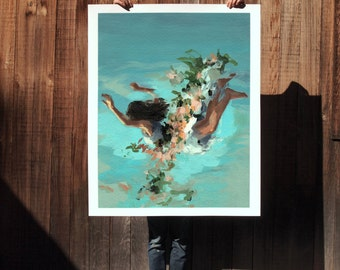 Happiness .  extra large wall art . giclee print