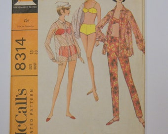 Vintage1960s  McCall's BAthing Suit Pattern 8314