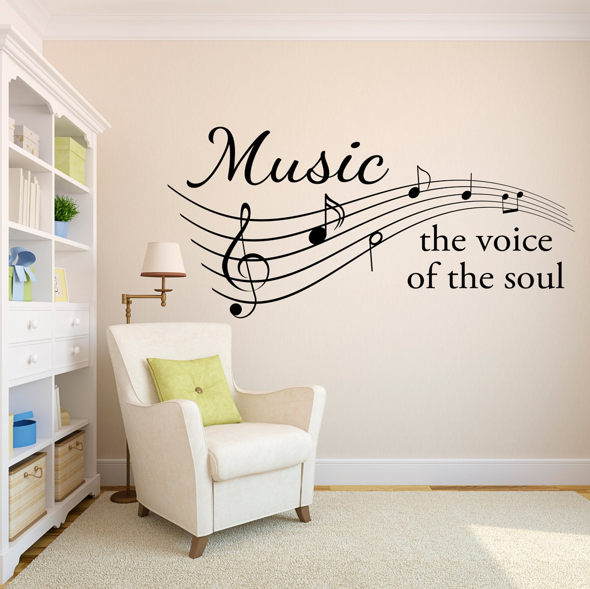 Music wall decal the voice of the soul music notes wall details music amipublicfo Gallery