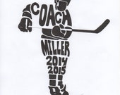 Personalized Sport Figure - Hockey - Coach - H110