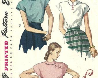 Simplicity Damen Schnittmuster 1166 1950 s Vintage