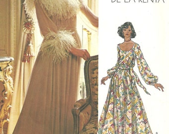 Vogue 1139 // Vintage Designer Sewing Pattern By Oscar de la Renta // Evening Dress Gown // Size 16 Bust 38