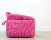 YOUR COLOR: Small Crochet Pouch - Makeup Bag - Phone Case - Gadget Case - Phone Wallet - Cosmetic - Clutch - Choose from 38 Colors