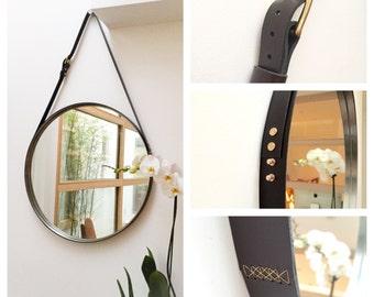 Miroirs etsy fr for Miroir hexagonal cuivre