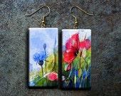 Wild flowers polymer clay earrings