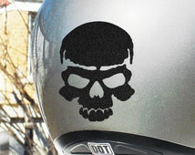 "Skull Reflective Decal / Reflective Skull Helmet Sticker / Skull Motorcycle Sticker / Reflective Bike Helmet Skull Decal / 4""h x 3""w / #526R"