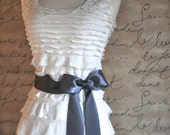 Satin sash in your choice of colors. Bridal belt Bridesmaids sash Flower Girl sash. Charcoal grey shown