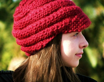 Knitting PATTERN-Spiral Hat