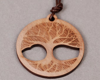Tree of Life Pendant - Tree of Life Necklace - Wood Pendant - Wood Necklace
