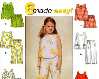 OOP Girls' Summer Separates - Sewing Pattern Simplicity 8676 - Size 5 6 6x UNCUT