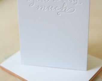 Letterpress Edge Painted Notecards - Thank You Notes