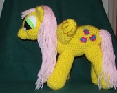 Fluttershy Winged Crochet Pony  Inspired by My Little Pony