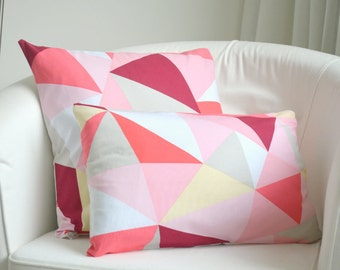 Throw Pillow Cover - Geometric in Pastels