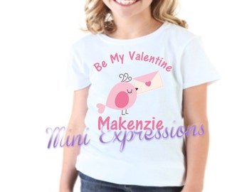 Be My Valentine Love Bird shirt or onesie