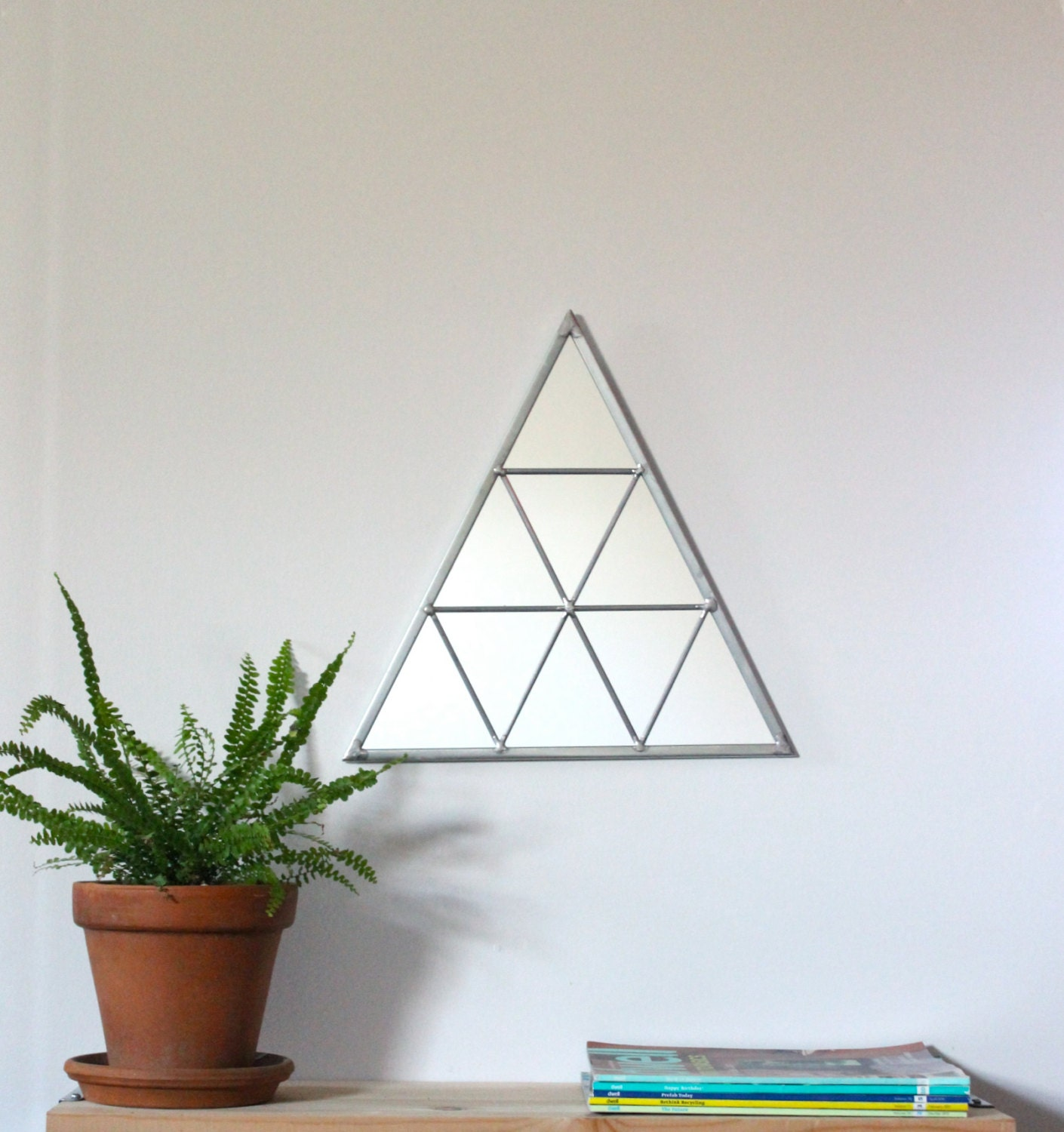 Geometric Wall Mirror triangle wall mirror geometric / handmade wall mirror triangle