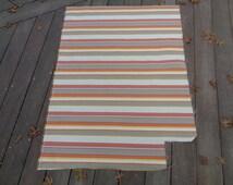 "36"" x 50"" Luxury Hotel Designer Home Decorator Fabric Orange Magenta Yellow Greige Brown Cream Stripe for Cushions Ottoman Couch PLCK3"