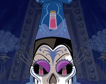 Yzma Disney Villains Sugar Skull Print 11x14 print