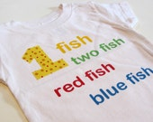 1st Birthday Boy Outfit Dr Seuss Birthday Shirt dr seuss party one fish two fish cat in the hat birthday first birthday shirt boy