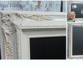 "LARGE WEDDING MaGNETIC CHALKBOARD 44'x32"" Catering Menu Board Extra Large Rustic Taupe Brown Framed Chalk board Wedding Decor Menu Ideas"