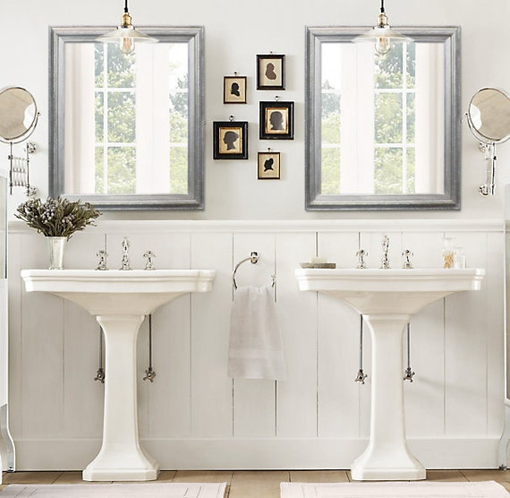 ANY COLOR Brushed Nickel Modern Bathroom Mirror by
