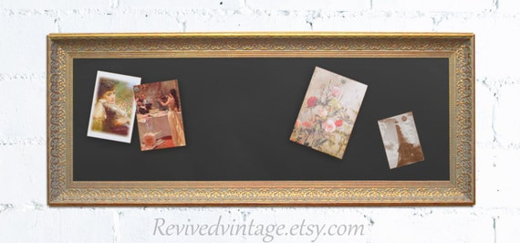 Kitchen bulletin board for sale 42x17 narrow by revivedvintage for Bulletin board ideas for kitchen