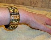 African exotic tribal wooden bangle   African bracelet   Safari gift animal print bangle painted ethnic bangle