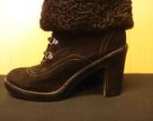 Real Fur Black Persian Lamb Boot Cuffs