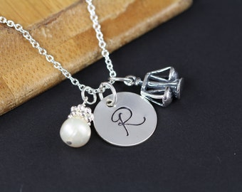 Personalized Jewelry for Lawyer Judge Paralegal Scales of Justice Charm Necklace Law School Graduation Gift Sterling Silver