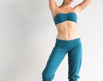 Teal Riding Pants - Jodhpurs - Capri Pants - Yoga Pants - Teal Pants - Leggings - Organic Cotton Pants