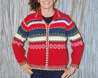 Womens large Ugly Christmas vintage sweater
