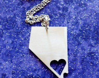 Viva Nevada - Necklace Pendant or Keychain