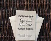 Spread the Love /// Kraft Paper Flower Seed Favor Envelopes  - Wedding or Baby/Bridal Shower