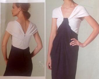 Vogue American Designer Donna Karan Collection Dress Sewing Pattern 2012 size 8-14 Uncut DKNY