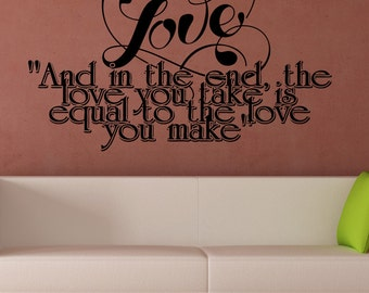 Vinyl Wall Decal Sticker Love Equal Phrase 5381m