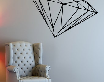 Vinyl Wall Decal Sticker Diamond 1483m