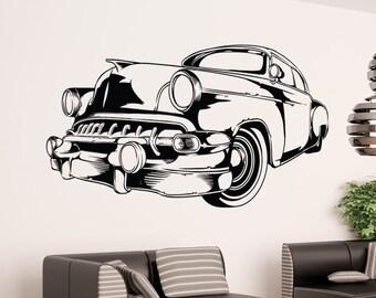 Vinyl Wall Art Decal Sticker Vintage Car 1554B