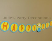 Despicable me Minion Birthday banner