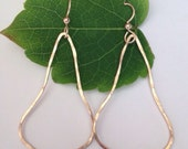 Temple Bell Hammered Earrings. Gold or Sterling