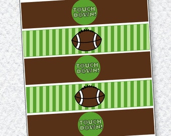 Football Party PRINTABLE Drink Labels (INSTANT DOWNLOAD) by Love The Day