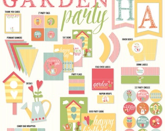 Garden Party PRINTABLES (INSTANT DOWNLOAD) by Love The Day
