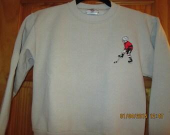 Boys Ice Hockey Sweatshirt-sizes youth 10-12/ 14-16 and XL. Personalized