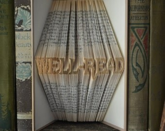 Well-Read - Reader's Digest Condensed Books - Folded Book Art - Recycled Repurposed Reclaimed Wedding Paper Anniversary School Reading Story
