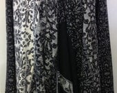 Black and White print loose front cardigan