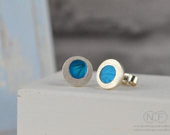 Handmade Enamel Stud Earrings