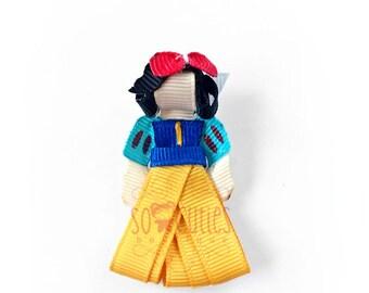 Princess Snow White sculpture ribbon hair clip, baby hairclip, girl hairclip, party favor, princess party.