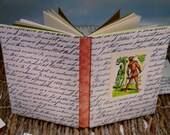 Slipcovered Robin Hood Writing Journal with Vintage Calligraphic Storybook Art Cover