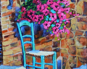 Art, Oil Painting, Original Oil, Artist Impressionism, Landscape Painting, Flowers European Style by Rebecca Beal