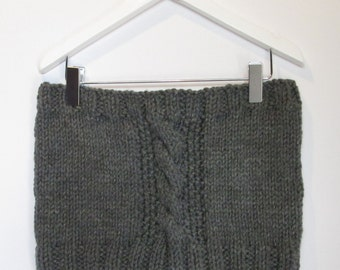 Cowl in Mid Grey Chunky Wool